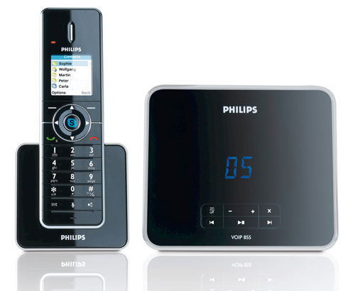 philips voip8551b t l phone fixe skype sans pc blogeek. Black Bedroom Furniture Sets. Home Design Ideas