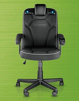 pyramat gaming chair 2 1 une chaise de bureau pour geek blogeek. Black Bedroom Furniture Sets. Home Design Ideas