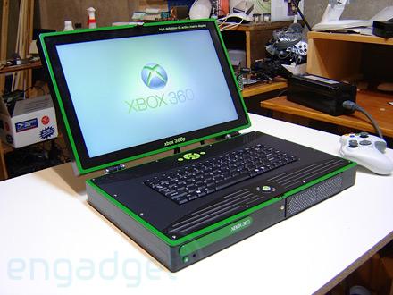Une Xbox 360 en ordinateur portable